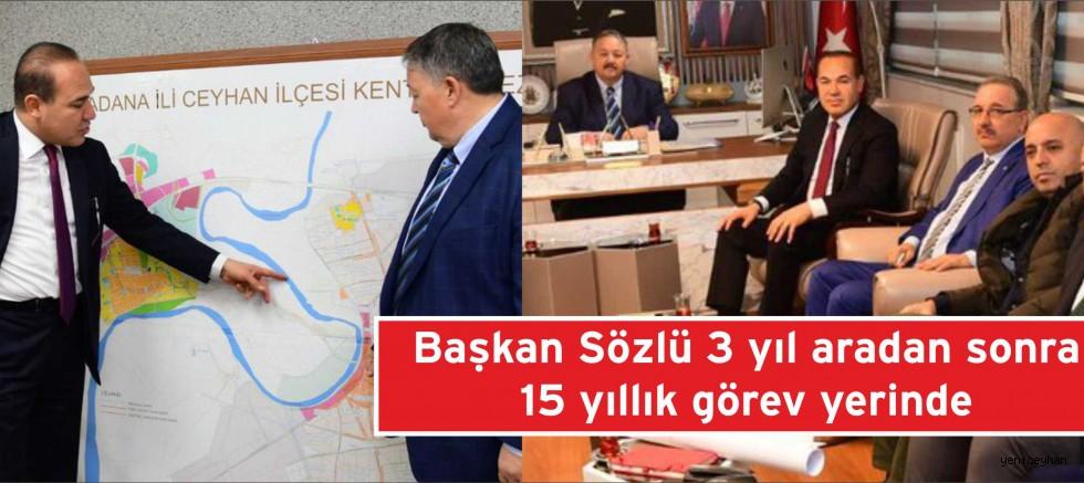 Başkan Sözlü Ceyhan Belediyesini Ziyaret Etti