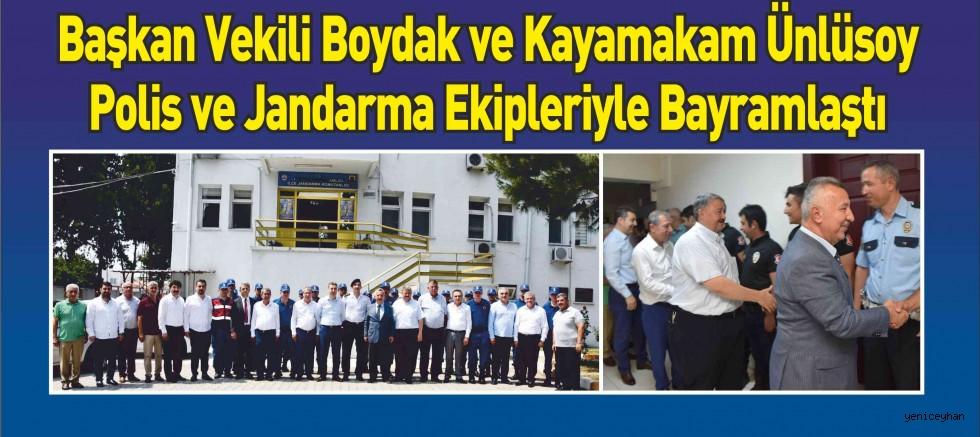 Başkan V. Boydak ve Kaymakam Ulusoy Güvenlik Güçleri ile Bayramlaştı