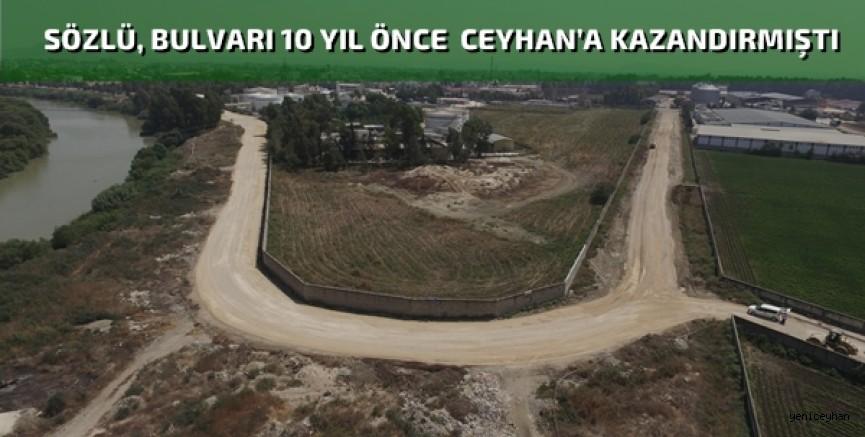 Büyükşehir, Ceyhan'da Dr. Mahir Alp Boydak Bulvarı'nı yeniliyor