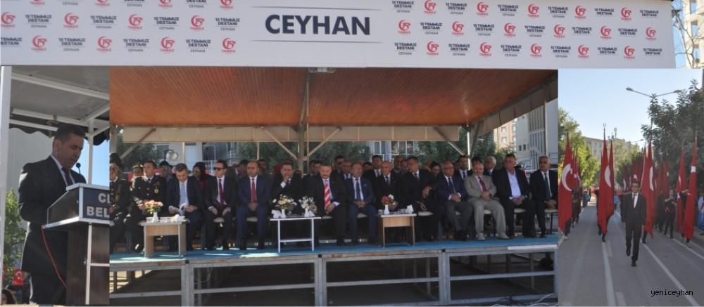 CEYHAN'DA CUMHURİYET COŞKUYLA KUTLANDI