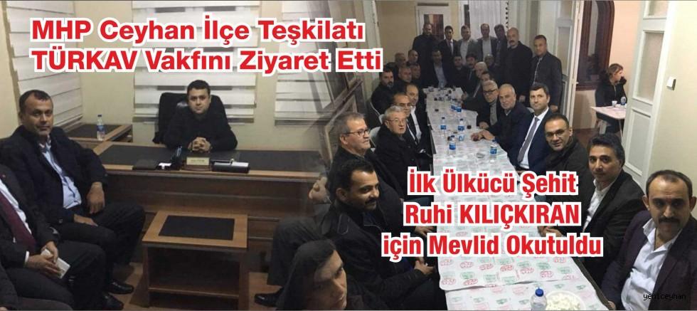 MHP İlçe Teşkilatı TÜRKAV'ı Ziyaret Etti