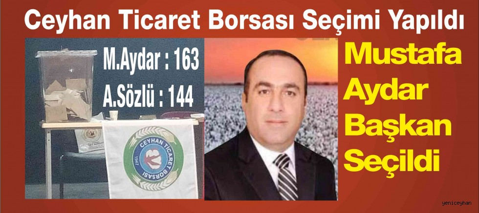 Mustafa AYDAR Borsa Seçimini Kazandı